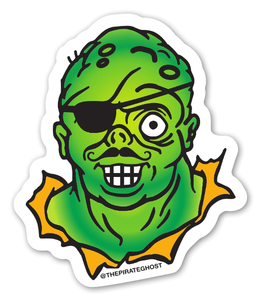 Pirateghost Clarence! Sticker