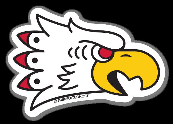 Pirateghost lone eagle left sticker