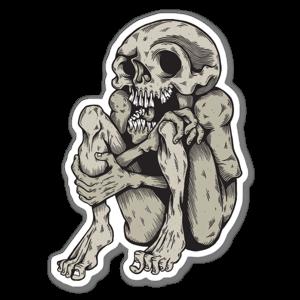 Corpse Skull sticker