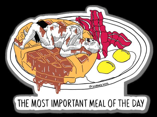 Belangrijkste maaltijd! sticker