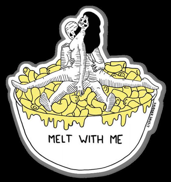 Smelt met me sticker