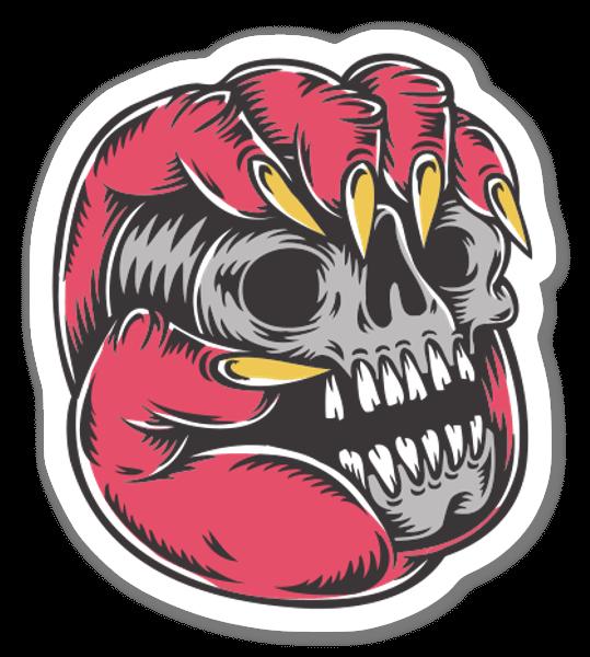 Handskull Sticker