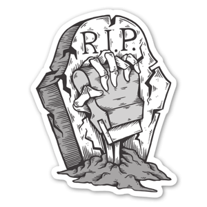 NEVER DIE sticker