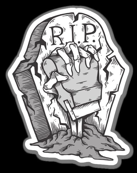 NEVER DIE sticker