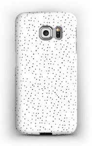 Dots on white case Galaxy S6 Edge