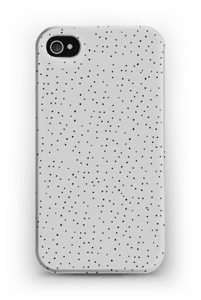 Harmaita pilkkuja kuoret IPhone 4/4s