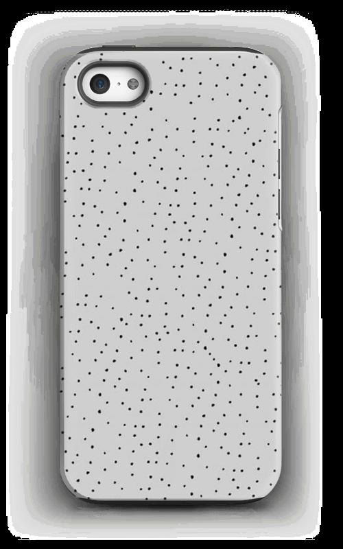 Sorte prikker på gråt cover IPhone 5/5s tough