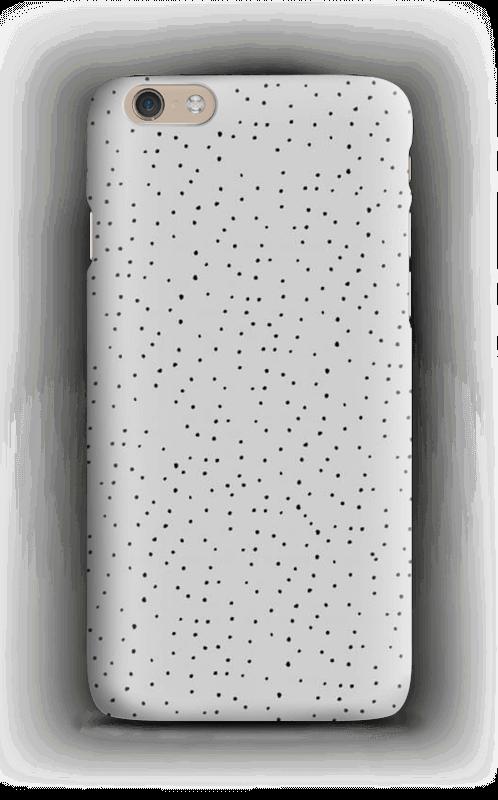 Sorte prikker på gråt cover IPhone 6 Plus