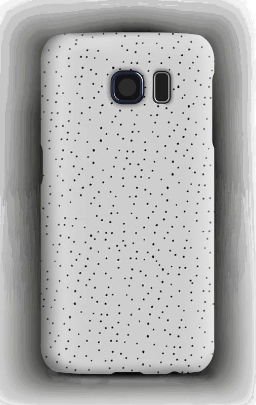 Sorte prikker på gråt cover Galaxy S6
