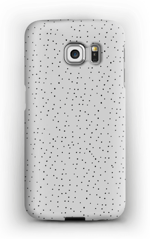 Sorte prikker på gråt cover Galaxy S6 Edge