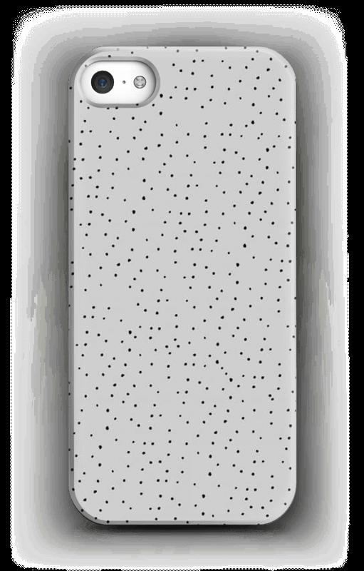 Sorte prikker på gråt cover IPhone SE