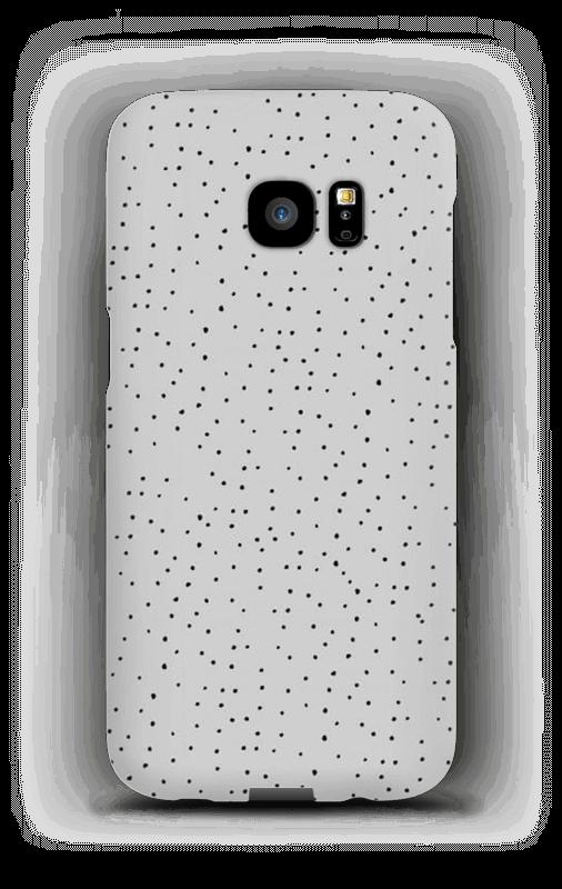 Sorte prikker på gråt cover Galaxy S7 Edge
