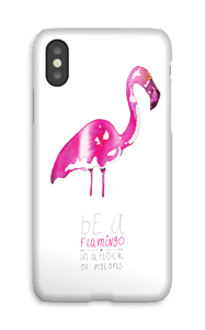 Roze flamingo  hoesje IPhone X