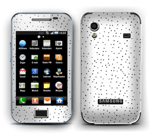 Small black dots on white Skin Galaxy Ace
