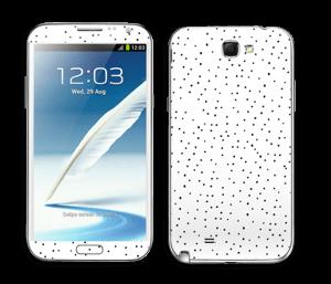 Prikker på hvitt Skin Galaxy Note 2