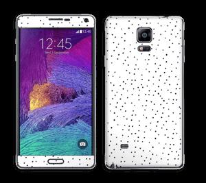 Prikker på hvitt Skin Galaxy Note 4