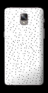 Mustavalkoiset pilkut tarrakuori OnePlus 3T
