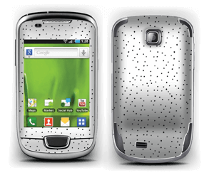 Small black dots on white Skin Galaxy Mini