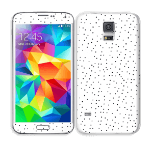 Prikker på hvitt Skin Galaxy S5