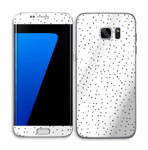 Small dots on white Skin Galaxy S7 Edge