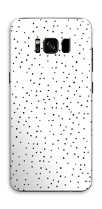 Small black dots on white Skin Galaxy S8