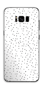 Small dots on white Skin Galaxy S8 Plus