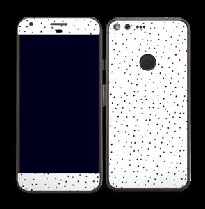 Prikker på hvitt Skin Pixel XL