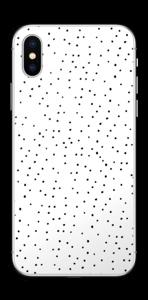 Prikker på hvitt Skin IPhone XS