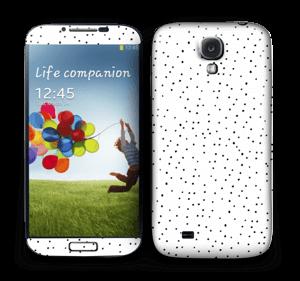 Mustavalkoiset pilkut tarrakuori Galaxy S4