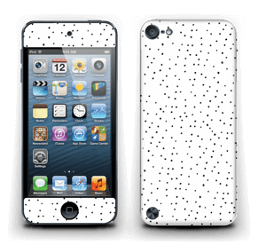 Small black dots on white Skin IPod Touch 5th Gen