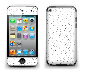 Small dots on white Skin IPod Touch 4th Gen