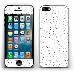 Small dots on white Skin IPhone 5s
