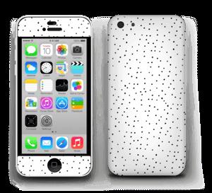 Mustavalkoiset pilkut tarrakuori IPhone 5c