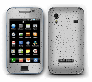 Small dots on grey Skin Galaxy Ace