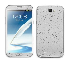 Points noirs sur gris Skin Galaxy Note 2