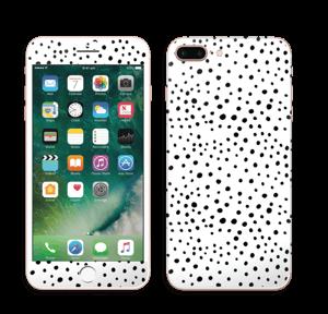 Valkoiset pilkut tarrakuori IPhone 7 Plus