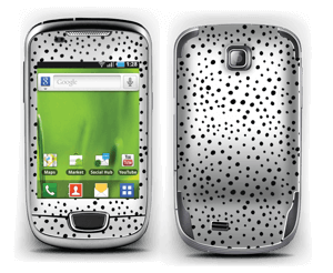 Black dots on white Skin Galaxy Mini