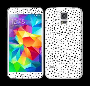 Prikker på hvidt Skin Galaxy S5