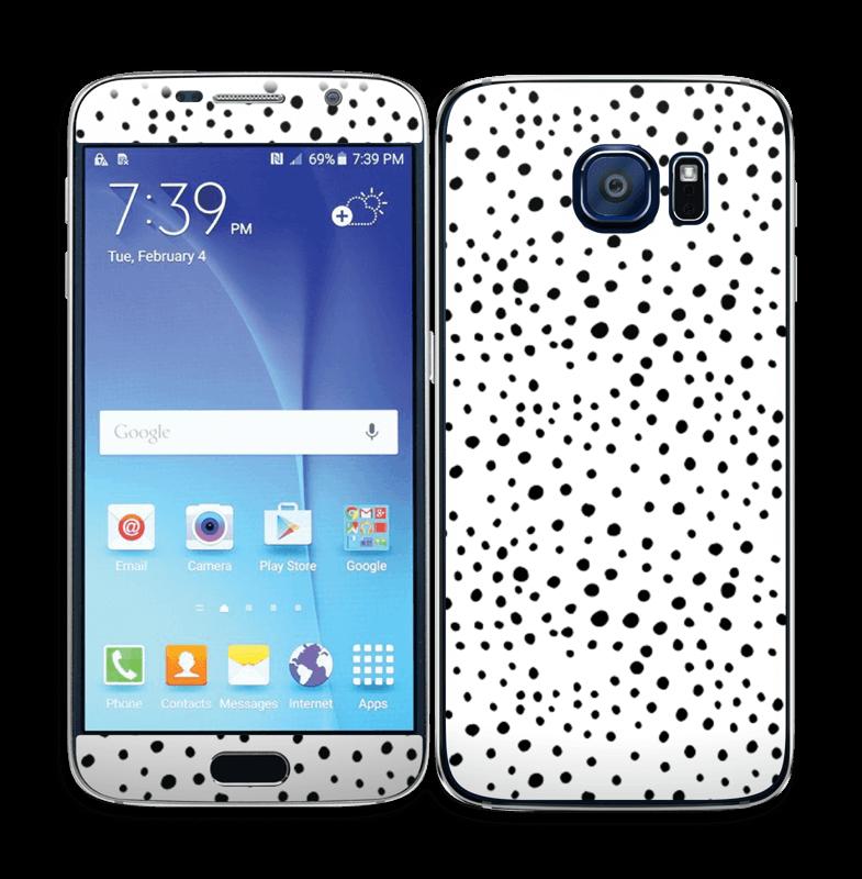 Prikker på hvitt Skin Galaxy S6