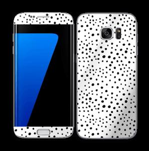 Prikker på hvitt Skin Galaxy S7 Edge