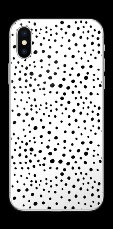 Prikker på hvitt Skin IPhone X