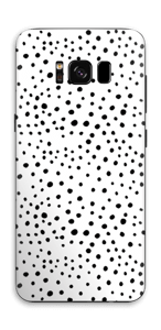 Black dots on white Skin Galaxy S8