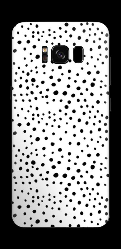 Prikker på hvitt Skin Galaxy S8