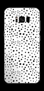 Prikker på hvitt Skin Galaxy S8 Plus