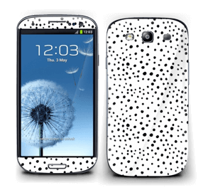 Prikker på hvitt Skin Galaxy S3