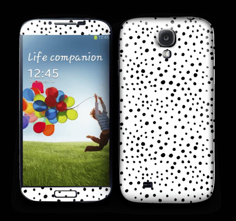 Prikker på hvitt Skin Galaxy S4