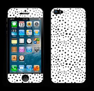 Prikker på hvitt Skin IPhone 5