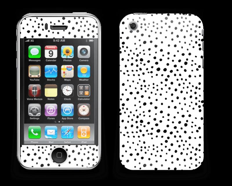 Prikker på hvitt Skin IPhone 3G/3GS