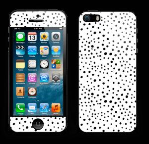 Prikker på hvitt Skin IPhone 5s