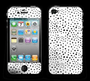 Valkoiset pilkut tarrakuori IPhone 4/4s